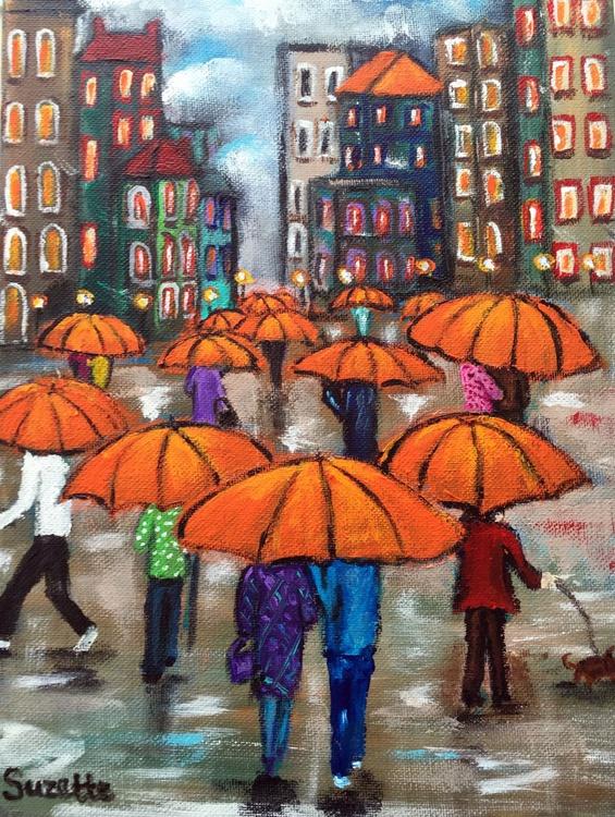 Orange Umbrellas Gallore - Image 0