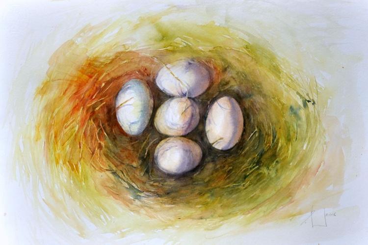 NEST original watercolor 46x32 - Image 0