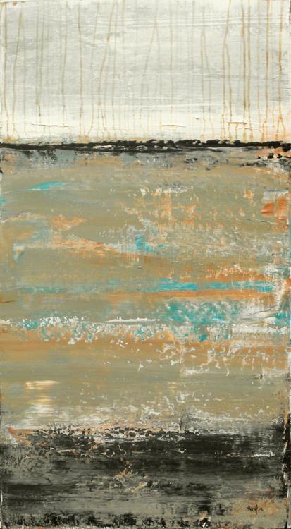 "Slate Tide - 38x20"" - READY-TO-HANG - Image 0"