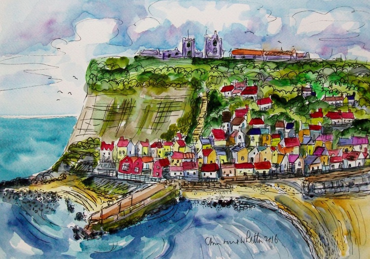 WHITBY HARBOUR VIEW - Image 0