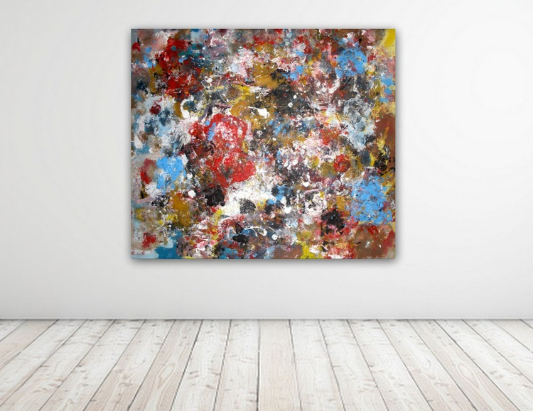 with a breath can fly ,  Abstract Canvas Collection - Image 0
