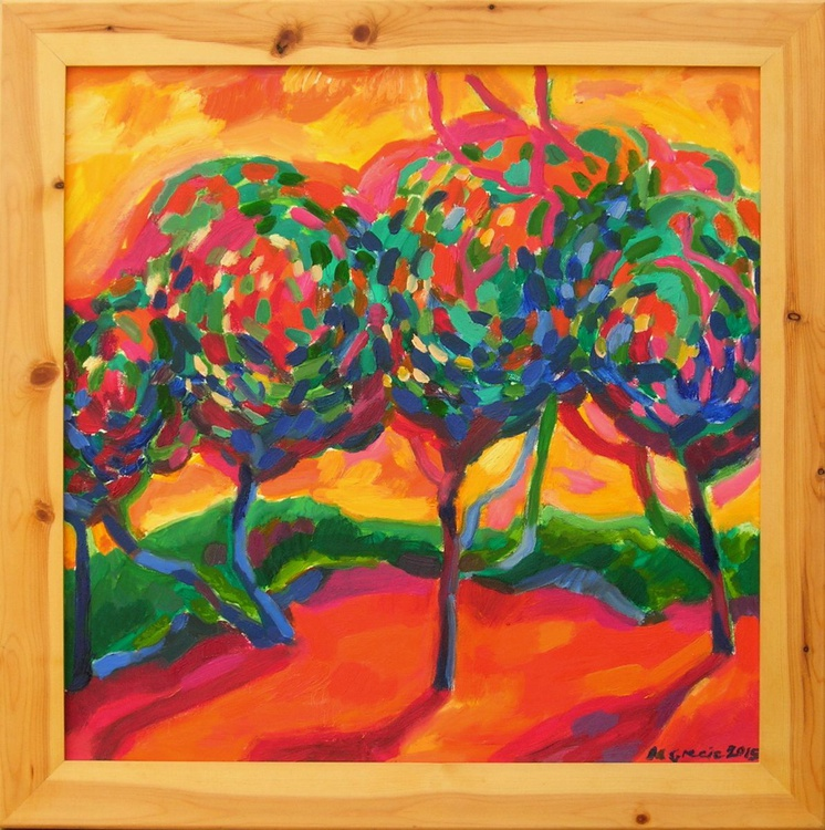 Apple trees and shadows - Image 0