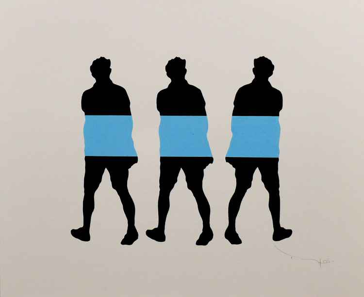 Three walking men 02 -  Tehos