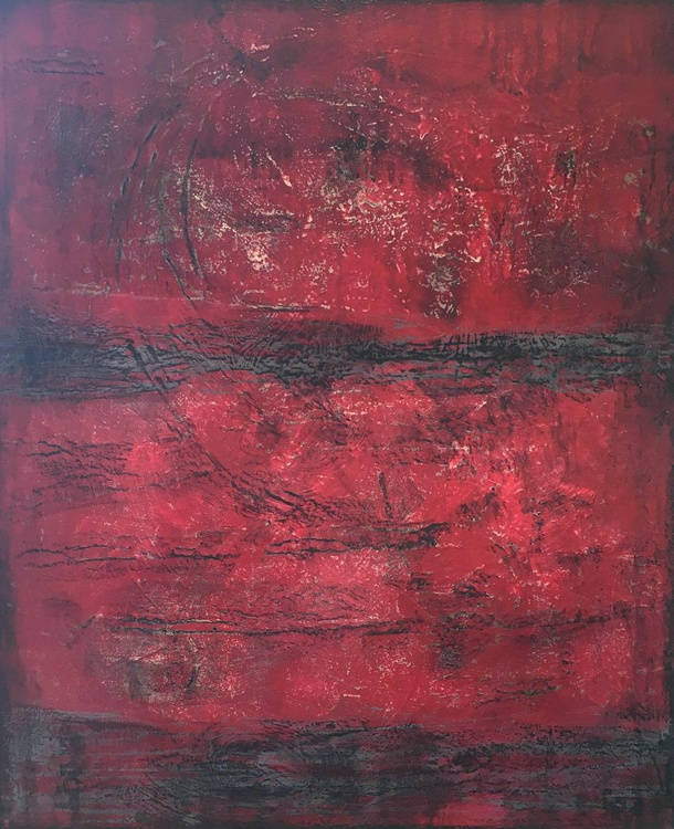 "Beyond Ruby Red - 20"" x 24"" - ready to hang - Image 0"