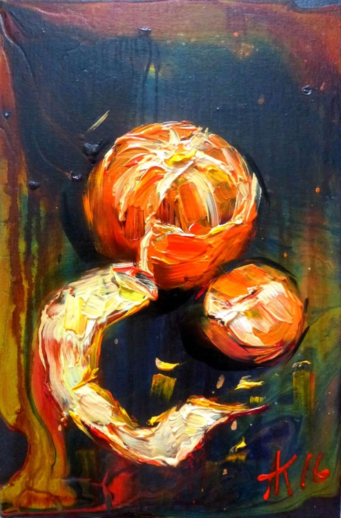Tangerine, oil painting  20x30 cm - Image 0