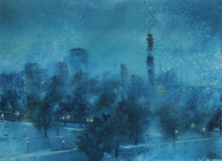 London Primrose Hill at Night