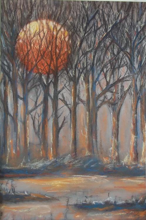 Sunrise Beyond Trees - Image 0