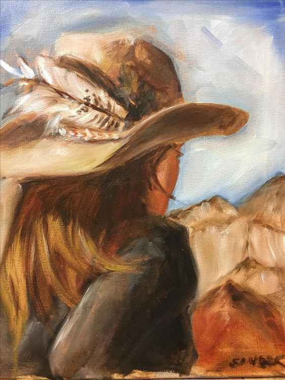 Contemplative Cowgirl -