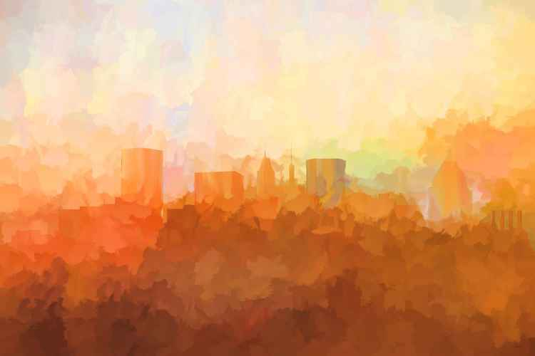 Baltimore, Maryland Skyline SG - In the Clouds -