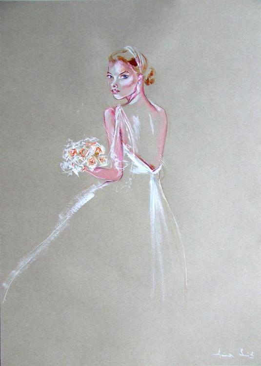 Portrait of a Bride / 59 cm x 42 cm - Image 0