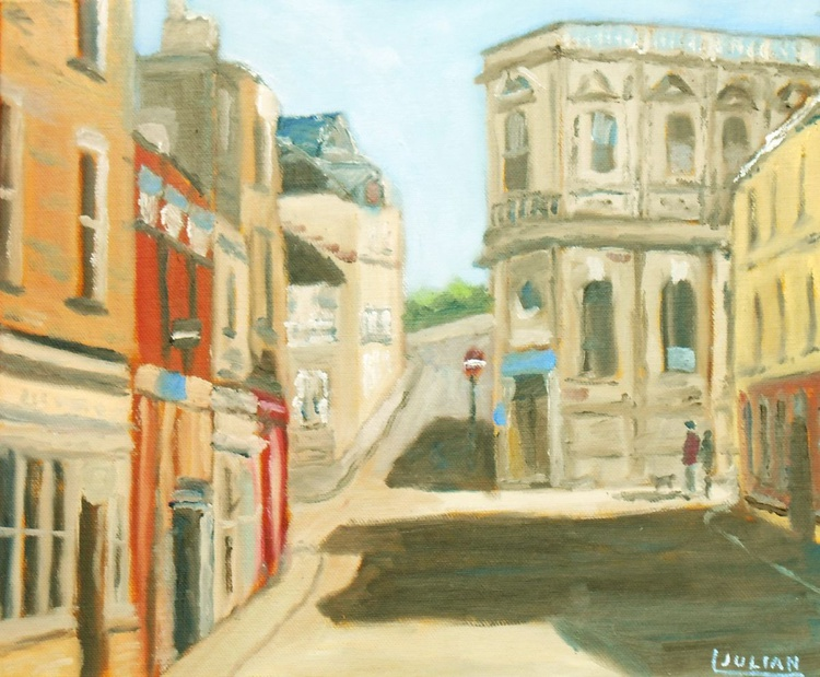 """Broad Street and Fort Hill, Margate. An original oil painting on board. 12"""" x 10"""" Lovely Gift! - Image 0"""