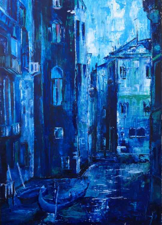Venice; Composed in blue -