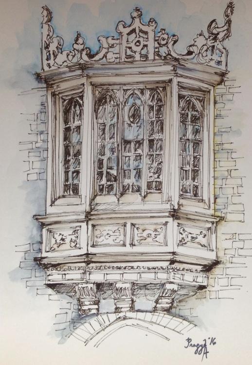 Window: Architectural Study, St Johns College, Cambridge - Image 0