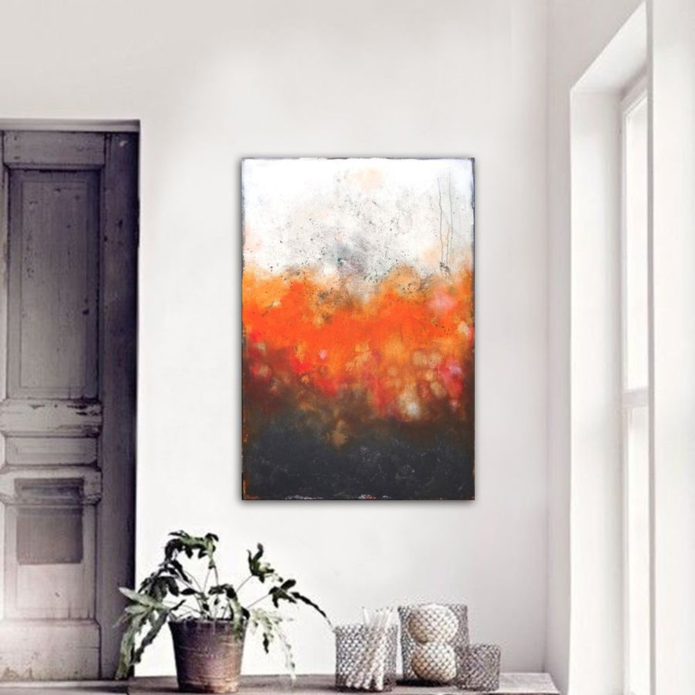 abstract orange (120 x 80 cm) by Dee Brown