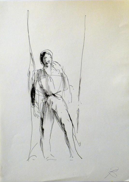 Single Figure #1, 29x41 cm - Image 0