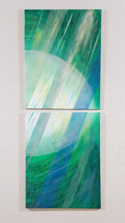 Beam Aquamarine Diptych - Image 0