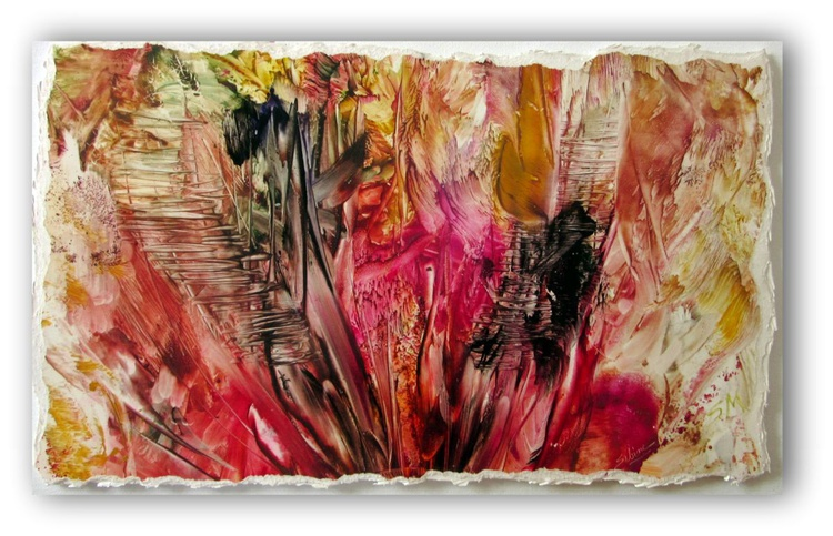Abstract Encaustic - Up the Garden Path - - Image 0