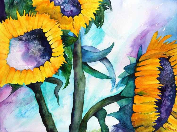 Tall Sunflowers -