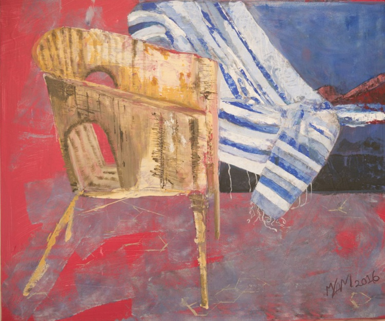 A Chair for company acrylic abstract original painting - Image 0