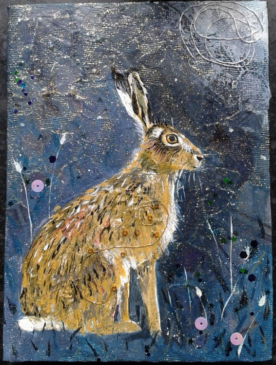 Hare, Stars and Moon - Image 0
