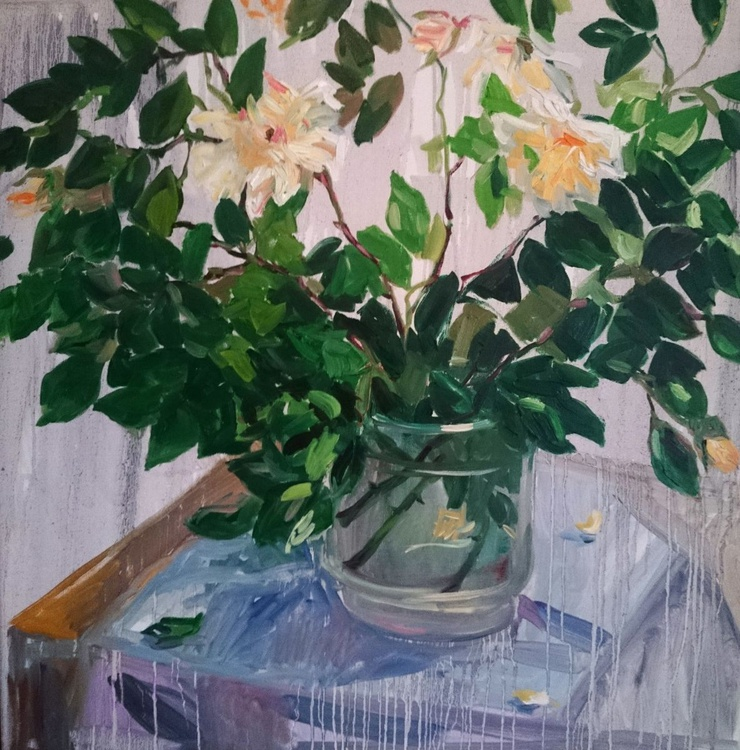Still life with roses. - Image 0