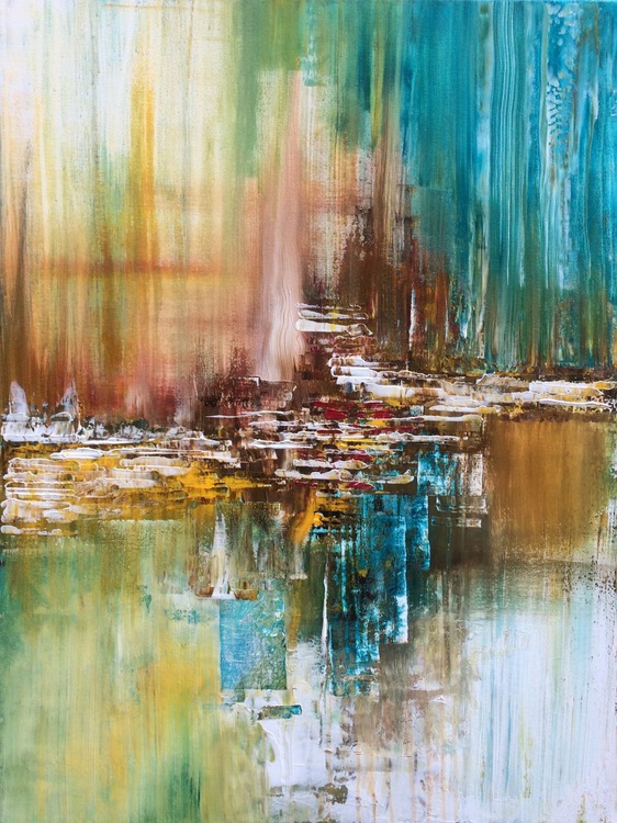"""""""ABstract PAinting"""" ,  Abstract Acrylic Painting - 24x32 inches - Image 0"""