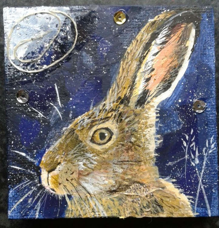 Hare in the night - Image 0