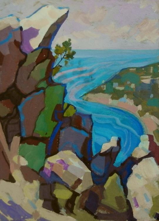 Stones and sea, 25x34 cm - Image 0