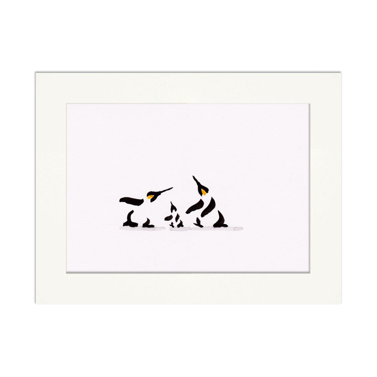 Two penguins and a chick 1 - Image 0