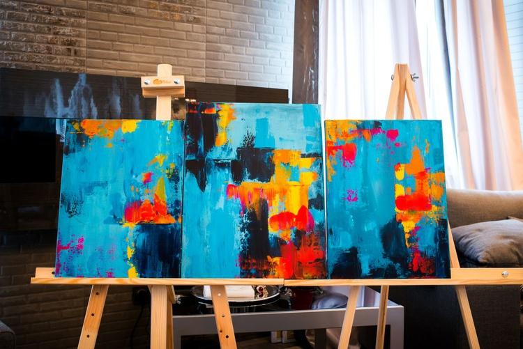 Sea (3 paintings) - Image 0