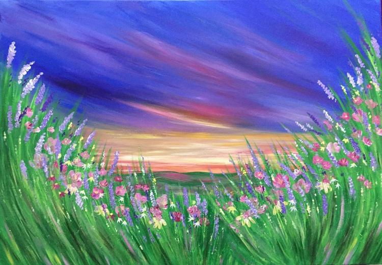 Purple Skies 39 x 28ins - Image 0
