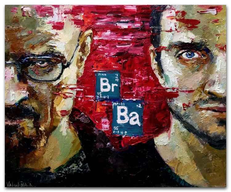 Breaking Bad portrait painting, Original oil painting -
