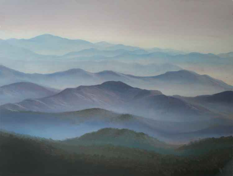 Misty Mountains I (18x24cm) -