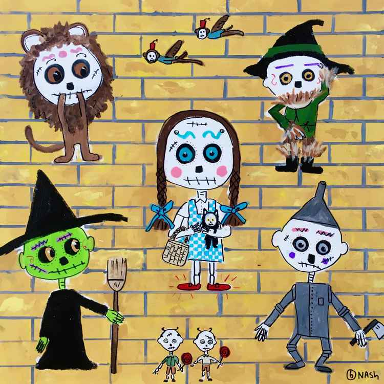 Day of the Dead Wizard of Oz -