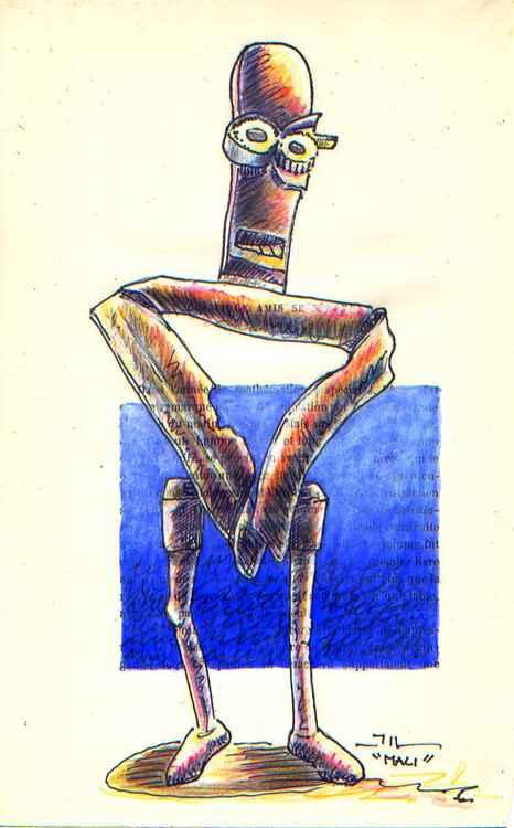 Mali, sketch of sculpture -