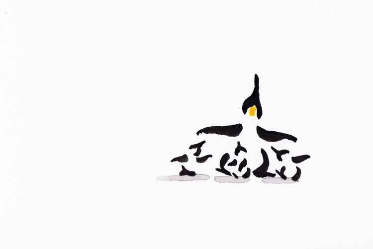 Penguin and three chicks 1015C -