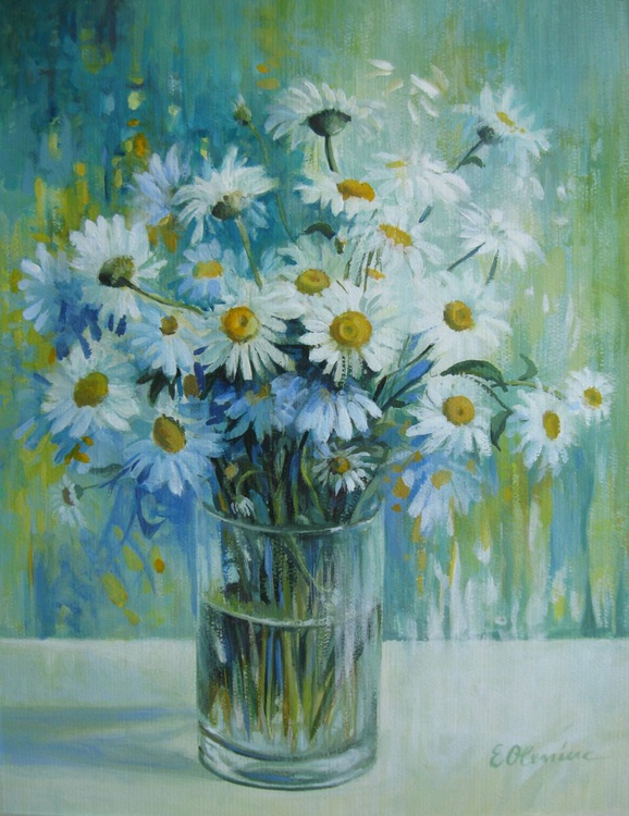 Vase with daisies - Image 0