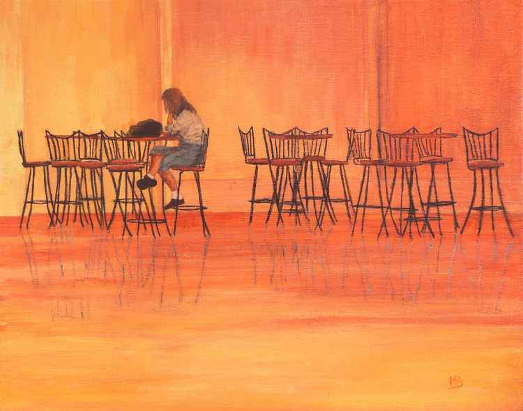 Girl In A Cafe -