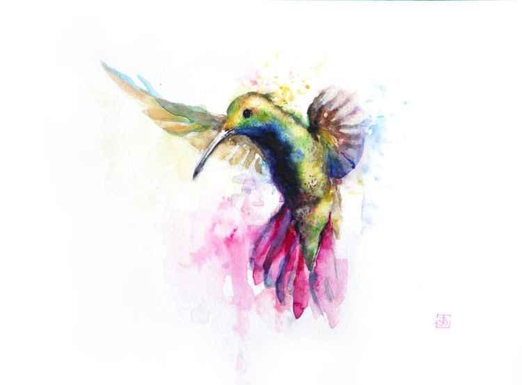 Flying bird -
