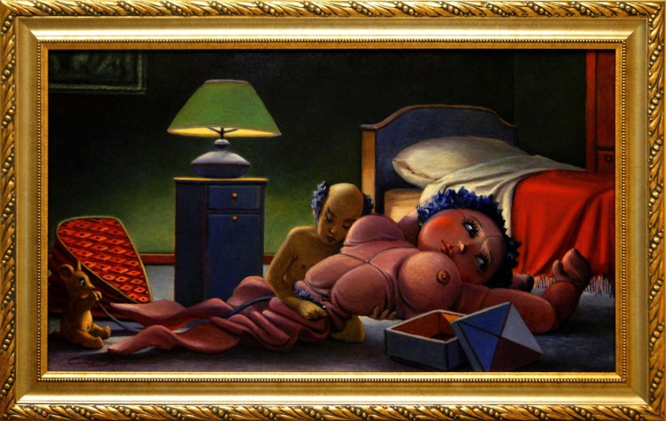 THE INFLATABLE DOLL - (framed). - Image 0