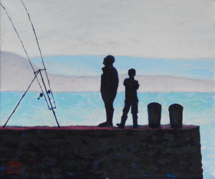 Father And Son Fishing - Image 0
