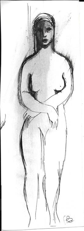 Standing Nude 9x24 cm - Image 0