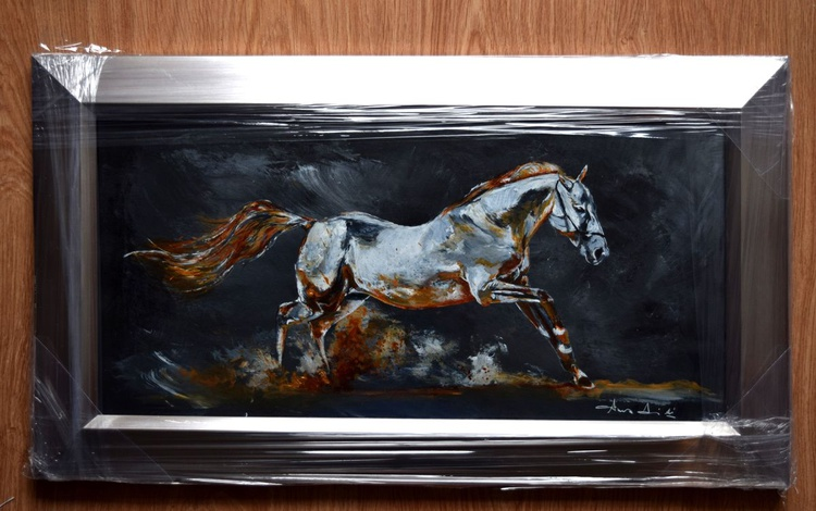 Wild and free / Framed Horse painting / Modern Equine Contemporary - Image 0
