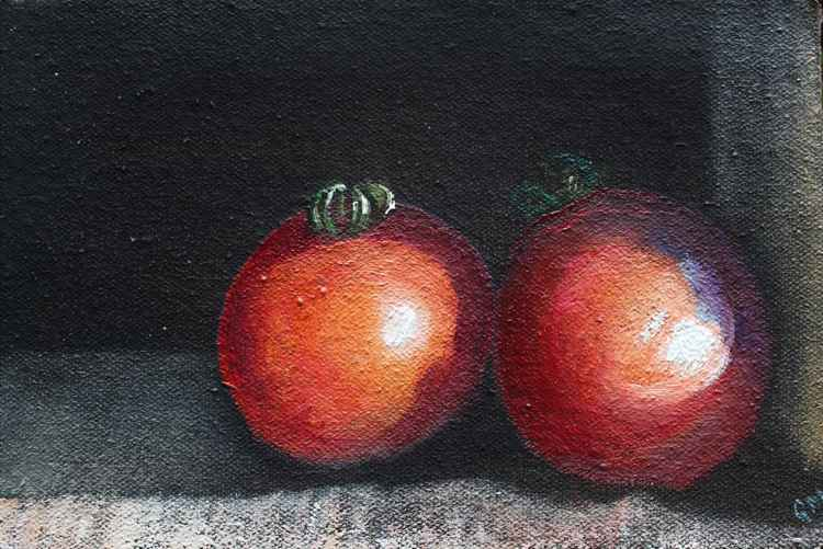 Two tomatoes (Day#24/365 Postcards from Pembrokeshire -