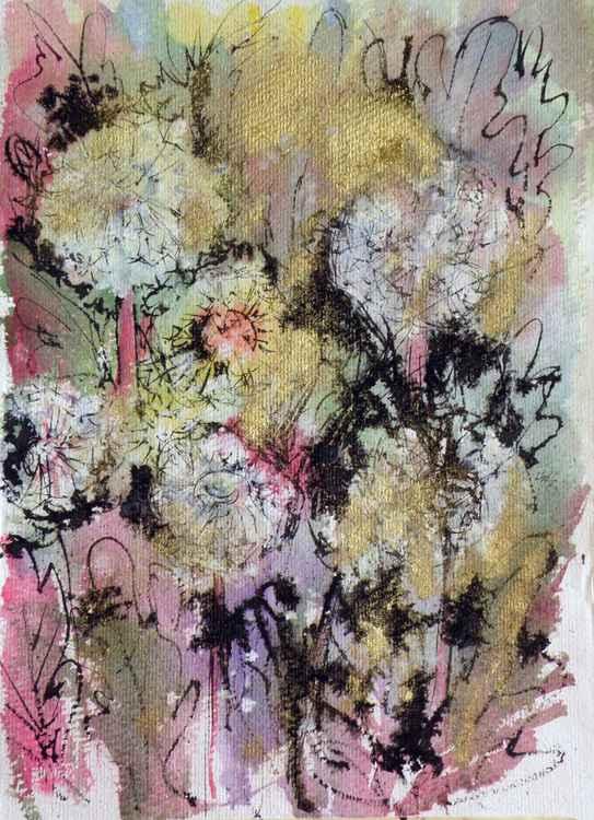 Dandelion in gold -