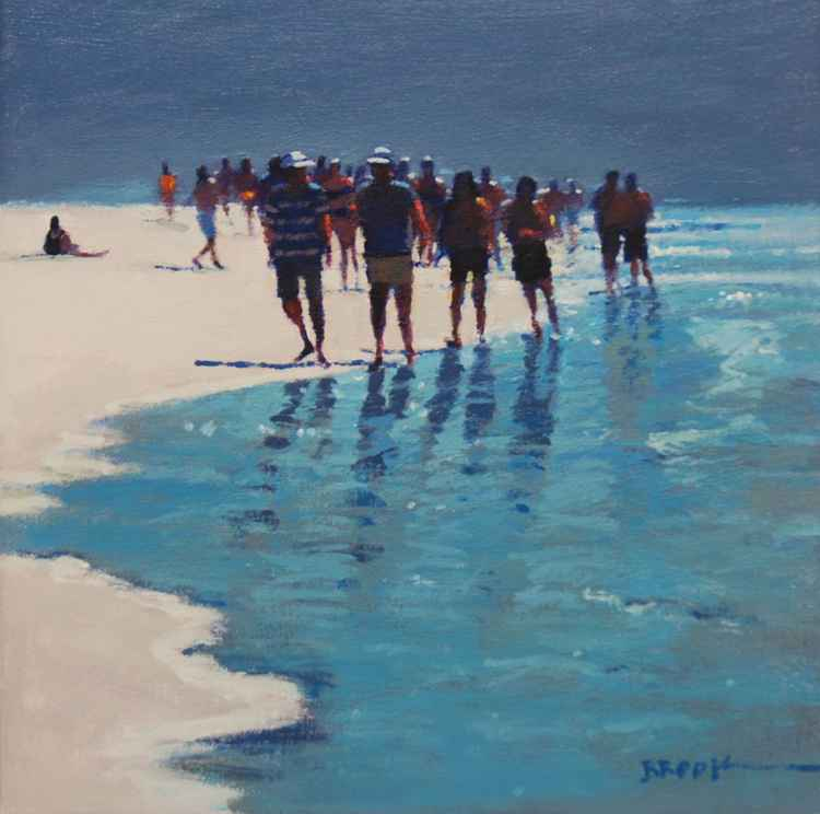 Beach people.