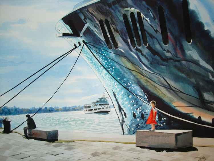 girl and ship -