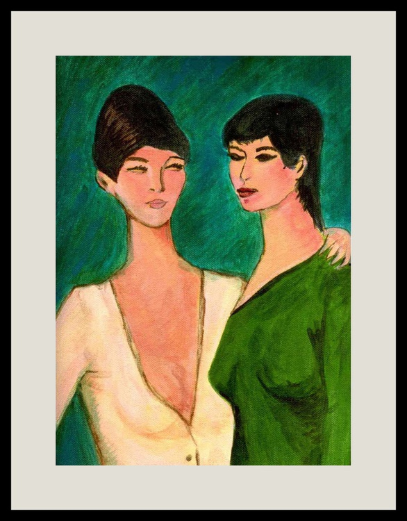 Two sisters (Inspired by Otto Muller) - Image 0