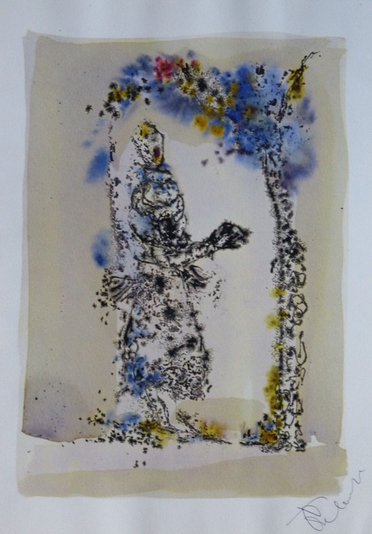 Under the Flowering Vine, 21x29 cm - Image 0
