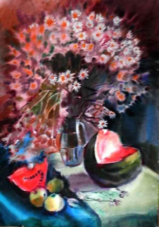 chrysanthemums -